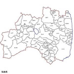 福島県:福島県の市町村地図