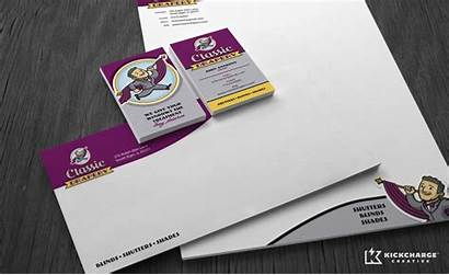 Business Drapery Classic Stationery Brand Process Building