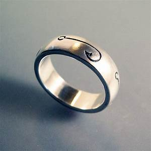 fish hook fishing ring or wedding band With fishing wedding ring