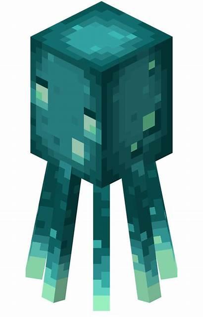 Minecraft Squid Earth Glow Gamepedia Lula Brilhante