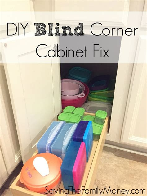 diy blind corner cabinet fix kitchen   saving  family money blind corner cabinet
