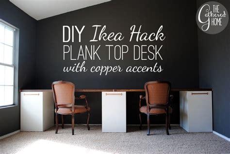 two person desk ikea hack diy ikea hack and copper desk16 2 3 the happy housie
