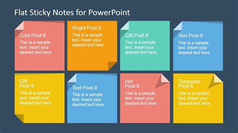 flat sticky note shapes  powerpoint powerpoint shapes