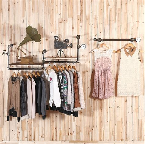 hang clothes on wall retro top clothing rack clothing store display hanger retro wall bracket on the wall