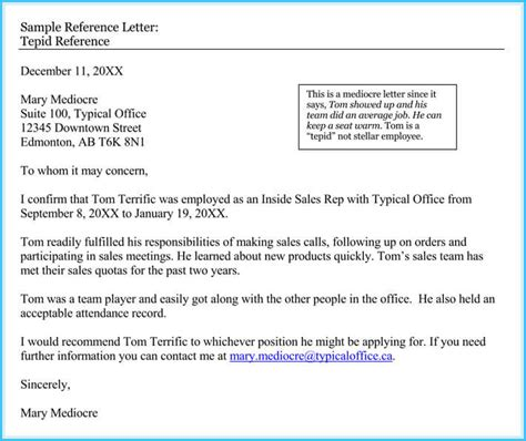 reference letter examples  writing tips