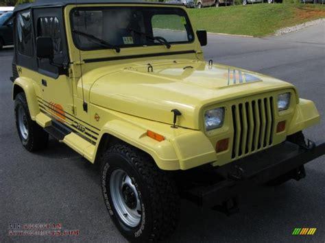 jeep islander 1990 jeep wrangler islander 4x4 in malibu yellow photo 4