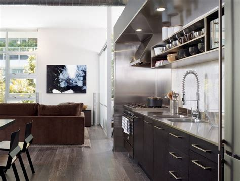 Los Angeles Incorporating Modern Floor Kitchen With Pull
