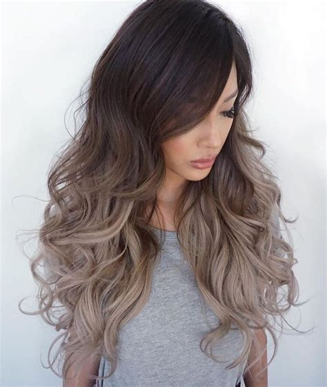 ambre color ash brown balayage ombre nail styling