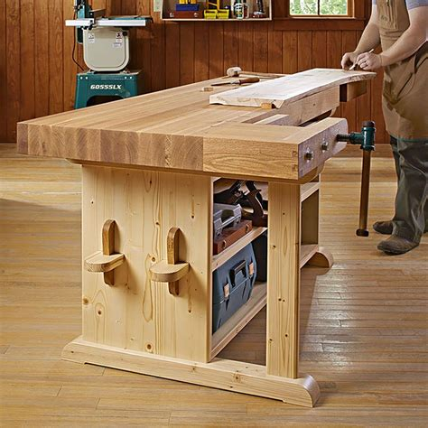 mobile table saw stand a statement workbench woodworking plan from wood magazine