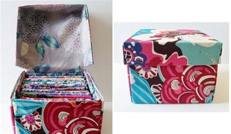 tutorial pretty fabric boxes  hinged lids sewing
