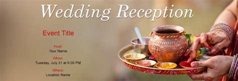 wedding reception invitation  indias   tool