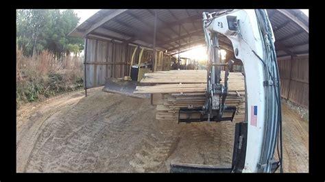 pallet forks   excavator bobcat trackhoe youtube