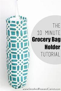 The 10 Minute Grocery Bag Holder Tutorial - Smashed Peas