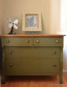 Welsh Dresser Painted by Antique Dresser In Olive By Annie Sloan Chalk Paint By