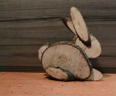 easter bunny  logs wood crafts wood slice crafts