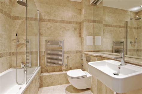 travertine bathroom from royal tile