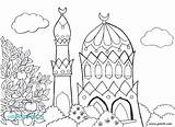 Ramadan Coloring Pages Colouring Printable Word Getcolorings Pag sketch template