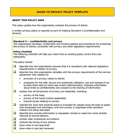 Free Sample Privacy Notice Templates Pdf Psd Word