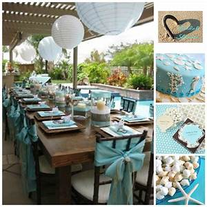 beach bridal shower inspiration board With beach wedding shower ideas