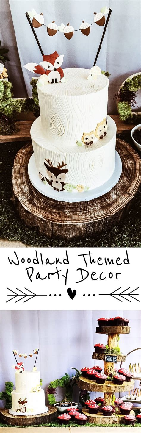 woodland themed party decor   boy  girl baby shower