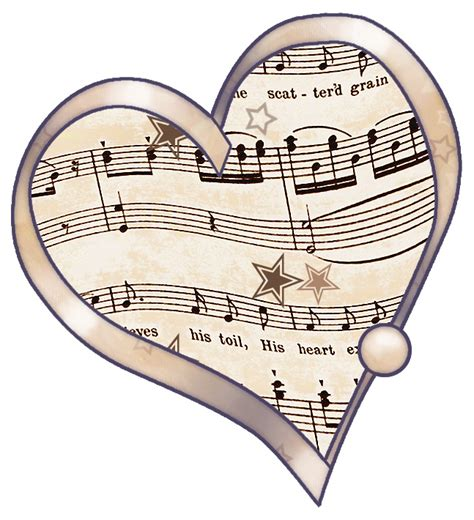 Print and download heart of stone sheet music from six: ArtbyJean - Vintage Sheet Music: Decoupage love heart ...