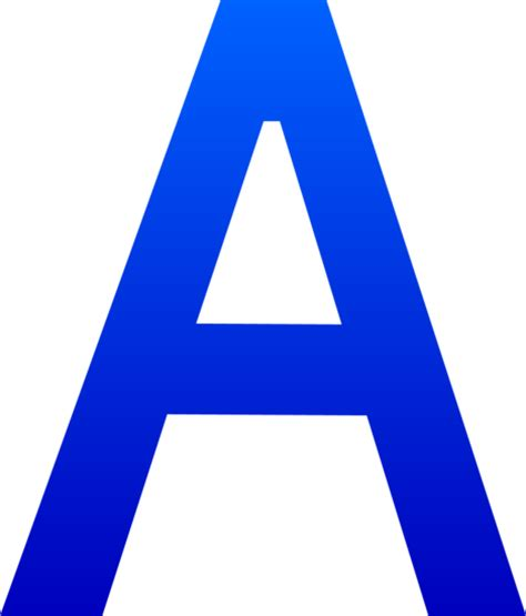 letter a png the letter a free clip 37457