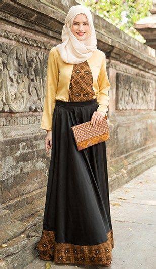 model baju batik muslim  tampil anggun mode sederhana model pakaian hijab model pakaian