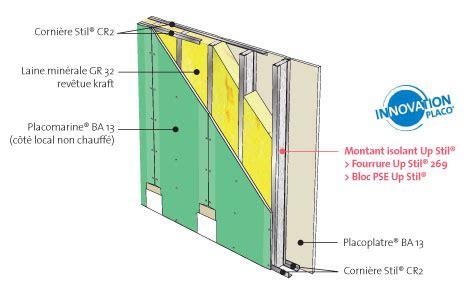 placo hydrofuge cuisine cloison isolante pour l 39 isolation de garage up stil l placo