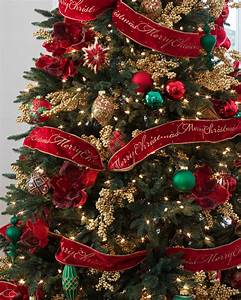 Red Christmas Tree Ribbon | Balsam Hill