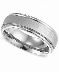Triton Men39s Titanium Ring Comfort Fit Wedding Band In