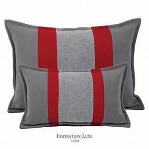 tapis de luxe contemporain gris et rouge loft par angelo With tapis peau de vache avec canapé 2 places assise profonde