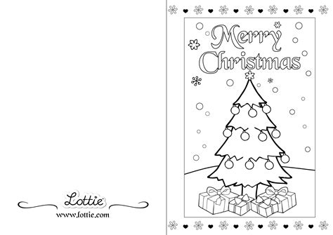 christmas colouring card  lottie irl