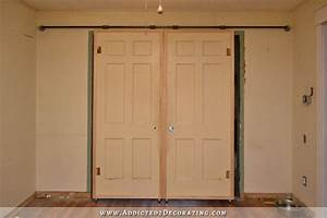 my finished sliding barn door style french doors With barn style roller doors