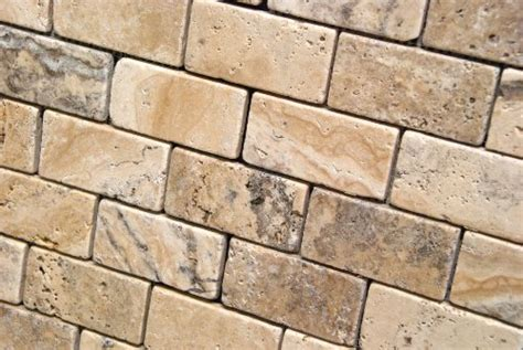 Philadelphia 2 X 4 Tumbled Travertine Brick Mosaic Tile