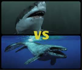 Mosasaurus vs Megalodon Shark