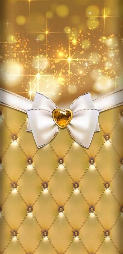 Gold Ivory Cream Background Phone Visit Cellphone