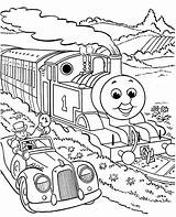 Coloring Printable Thomas Train Colouring Sheets Tank Engine Friends Adventure sketch template