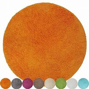 elegant tapis rond orange l39idee d39un tapis de bain With tapis rond orange