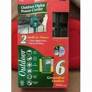 Noma Photocell Outdoor Digital Timer Instructions 1 Outlet