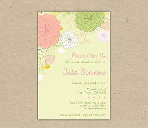 printable wedding shower invitations template best With wedding shower invitations templates
