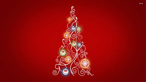 stylized christmas tree wallpaper 713351