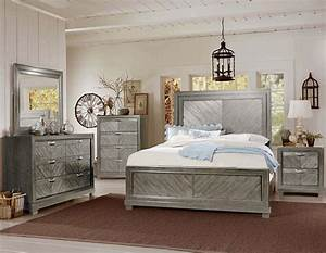 Steve Silver RE137 Montana Bedroom Set In Grey Dallas