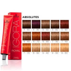 Schwarzkopf Igora Royal Hair Color Chart