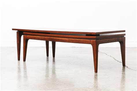 table l mid century walnut quot l quot shaped adjustable coffee table