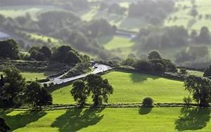 nature, Landscape, Tilt Shift, Trees, Forest, Hill, Road