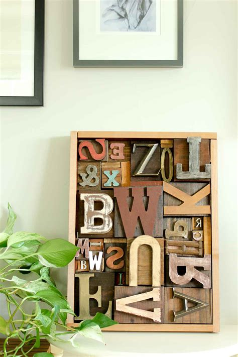 diy art idea  faux letterpress print blocks