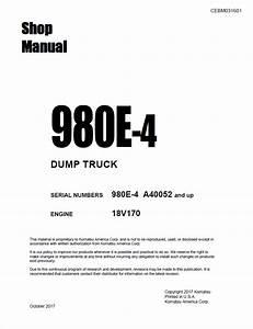 Komatsu Dump Truck 980e