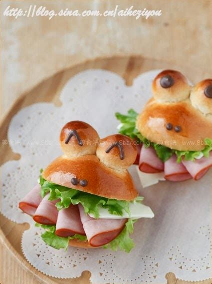 diy frog shaped sandwich