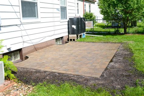 how to build a paver patio on a sloped yard home design
