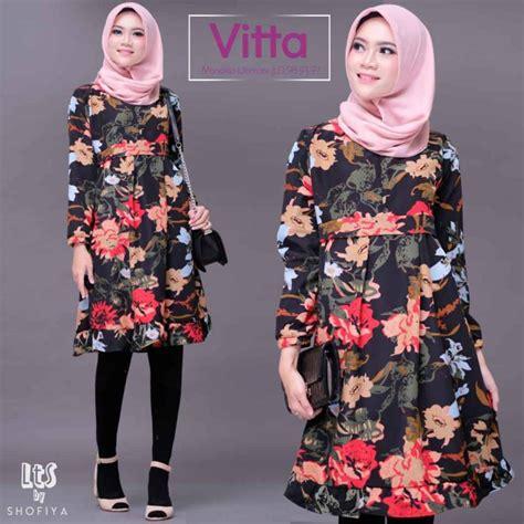 Tunik Bunga tunik remaja motif bunga terbaru 2019 vitta ori by shofiya